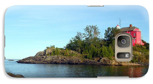 Galaxy Case featuring the photograph Marquette Harbor Lighthouse Reflection by Mark J Seefeldt