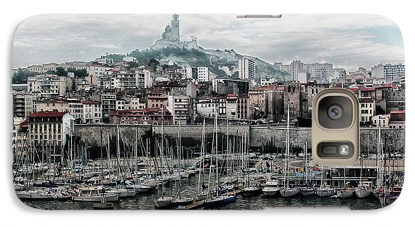 Galaxy Case featuring the photograph Marseilles France Harbor by Alan Toepfer