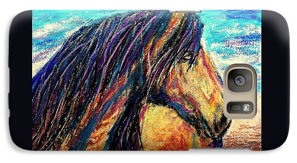 Galaxy Case featuring the painting Marsh Tacky Wild Horse by Patricia L Davidson