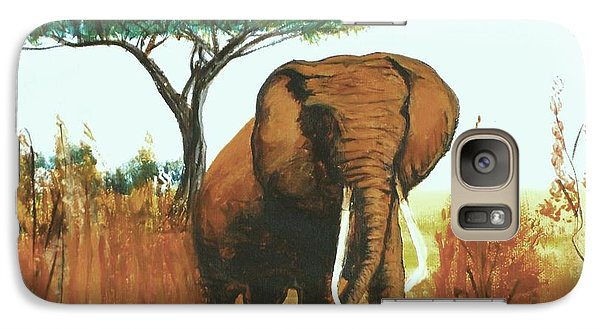 Galaxy Case featuring the painting Marsha's Elephant by Donna Dixon