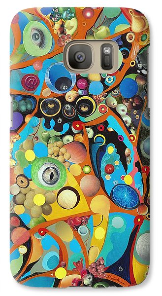 Galaxy Case featuring the painting Martian Venusian by Douglas Fromm