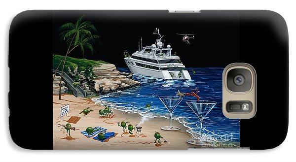 Helicopter Galaxy S7 Case - Martini Cove La Jolla by Michael Godard