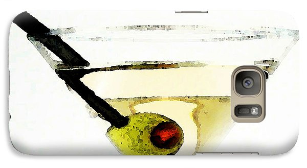 Martini With Green Olive Galaxy S7 Case by Sharon Cummings