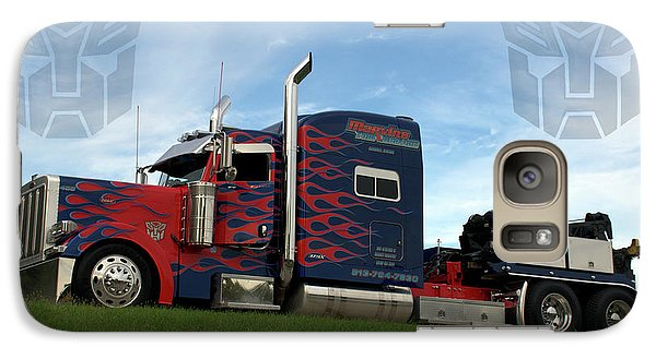 Galaxy Case featuring the photograph Transformers Optimus Prime Tow Truck by Tim McCullough
