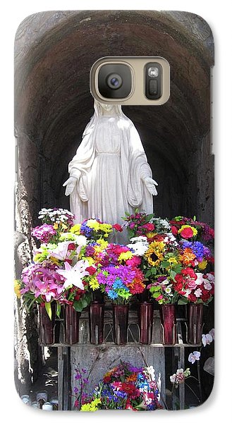 Galaxy Case featuring the photograph Mary At The Mission by Mary Ellen Frazee