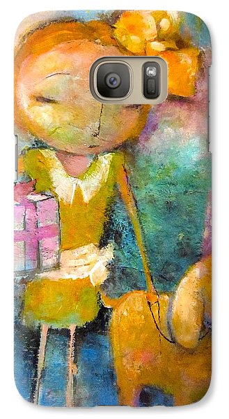 Galaxy Case featuring the painting Mary Had A Little Dog by Eleatta Diver