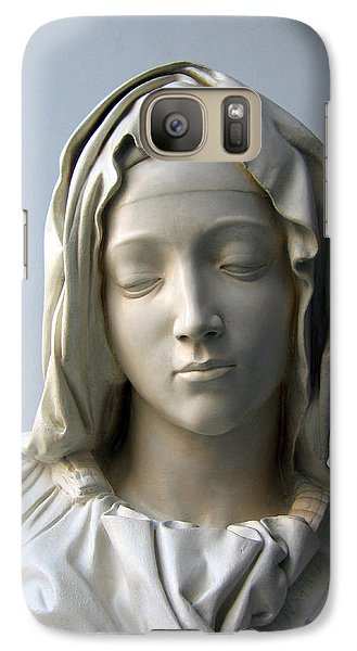 Galaxy Case featuring the sculpture Mary by Suhas Tavkar