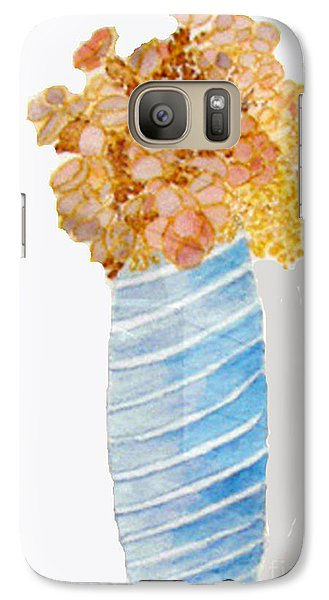 Galaxy Case featuring the painting Mary's Flowers by Sandy McIntire