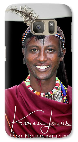 Galaxy Case featuring the photograph Masai Warrior by Karen Lewis