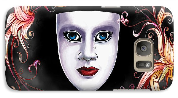 Galaxy Case featuring the photograph Mask And Vines by Gary Crockett