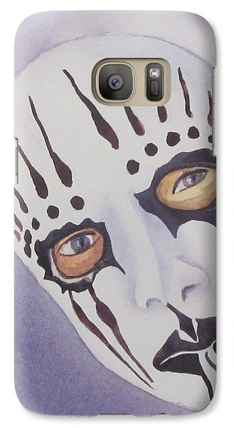 Galaxy Case featuring the painting Mask I by Teresa Beyer