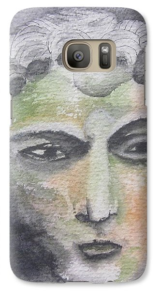 Galaxy Case featuring the painting Mask II by Teresa Beyer