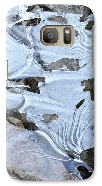 Galaxy Case featuring the photograph Ice Mask Abstract by Glenn Gordon