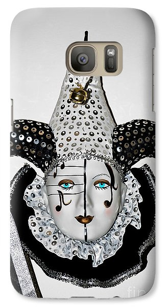 Galaxy Case featuring the photograph Masquerade Mask by Yurix Sardinelly