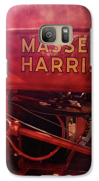 Galaxy Case featuring the photograph Massey Harris Vintage Tractor by Ann Powell