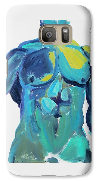 Galaxy Case featuring the painting Massive Hunk Blue-green by Shungaboy X