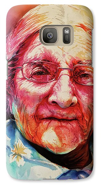 Galaxy Case featuring the painting Windows To The Soul by J- J- Espinoza