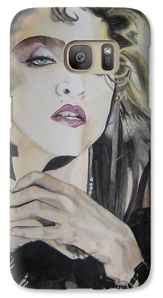 Galaxy Case featuring the painting Material Girl by Lance Gebhardt