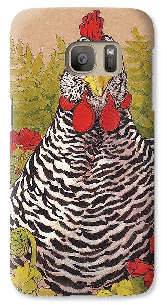 Chicken Galaxy S7 Case - Matilda In The Geraniums by Tracie Thompson