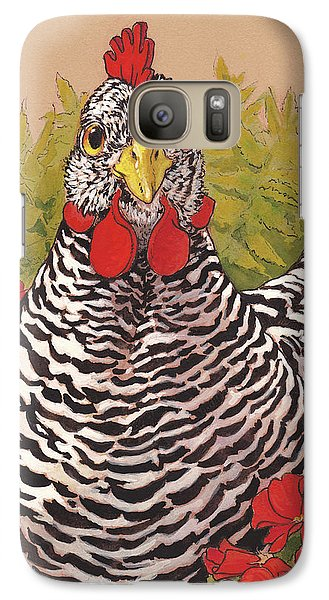 Matilda In The Geraniums Galaxy S7 Case by Tracie Thompson