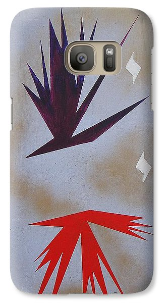 Galaxy Case featuring the painting Mating Ritual by J R Seymour