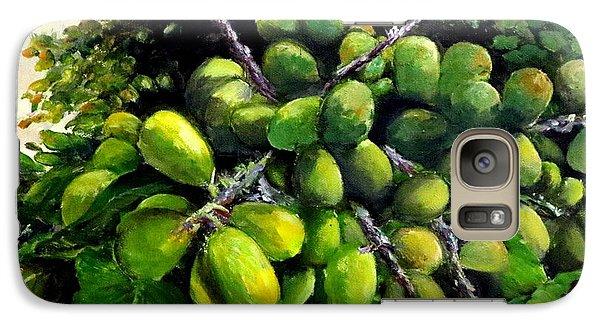 Galaxy Case featuring the painting Matoa Fruit by Jason Sentuf