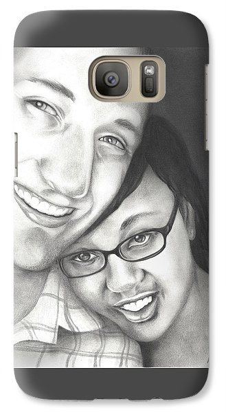 Galaxy Case featuring the drawing Matt And Jasmine by AC Williams