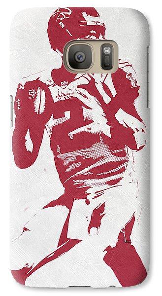 Matt Ryan Atlanta Falcons Pixel Art 2 Galaxy S7 Case by Joe Hamilton