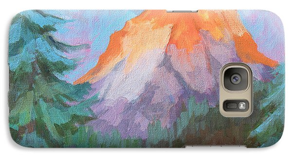 Galaxy Case featuring the painting Matterhorn Sunrise by Diane McClary