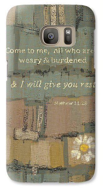 Galaxy Case featuring the painting Matthew Bible Verse by Carrie Joy Byrnes