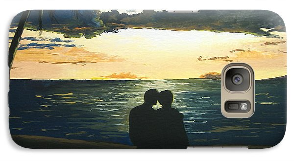 Galaxy Case featuring the painting Maui Beach Sunset by Norm Starks