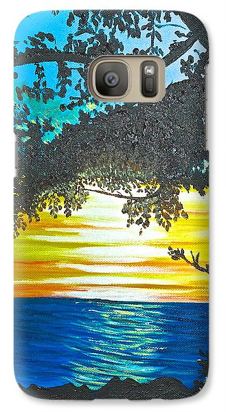 Galaxy Case featuring the painting Maui Sunset by Donna Blossom