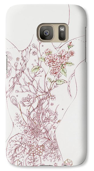 Galaxy Case featuring the drawing Maureen by Karen Robey