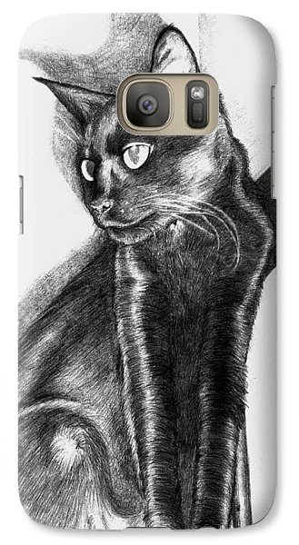 Galaxy Case featuring the drawing Maurice  by Shawna Rowe
