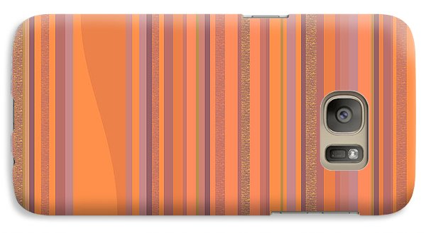 Galaxy Case featuring the digital art May Morning Vertical Stripes by Val Arie