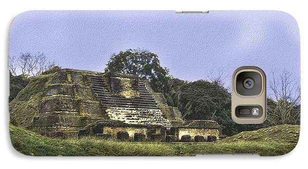 Galaxy Case featuring the photograph Mayan Ruins In Belize by Linda Constant