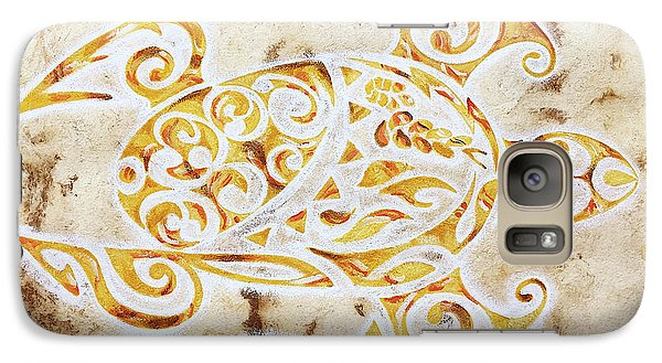 Galaxy Case featuring the painting Mayan Turtle by J- J- Espinoza