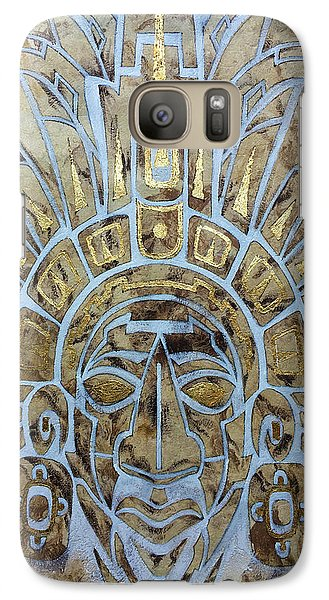 Galaxy Case featuring the painting Mayan Warrior by J- J- Espinoza