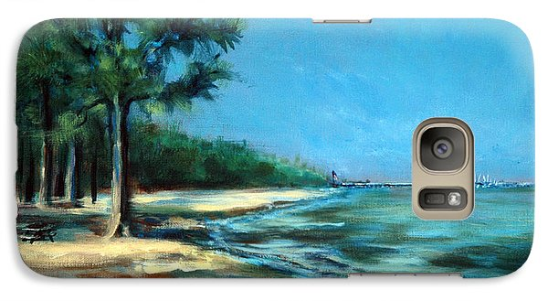 Galaxy Case featuring the painting Maybe A Picnic by Suzanne McKee