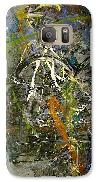 Galaxy Case featuring the painting 'maybe Guitar' Or Abstract 42515 by Robert Anderson