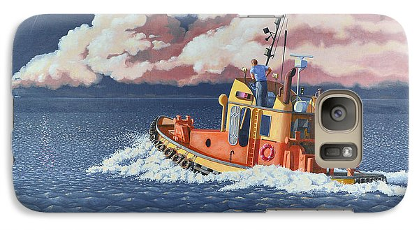 Galaxy Case featuring the painting Mayday- I Require A Tug by Gary Giacomelli