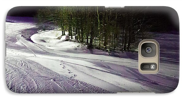 Galaxy Case featuring the photograph Mccauley Evening Snowscape by David Patterson