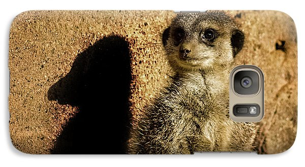 Meerkat Galaxy S7 Case - Me And My Shadow by Martin Newman