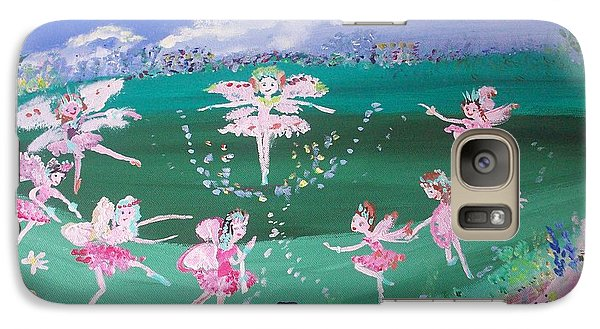 Galaxy Case featuring the painting Meadow Fairies by Judith Desrosiers