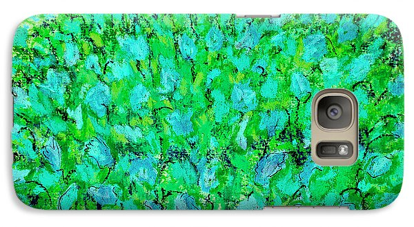 Galaxy Case featuring the painting Meadow Flowers by Linde Townsend