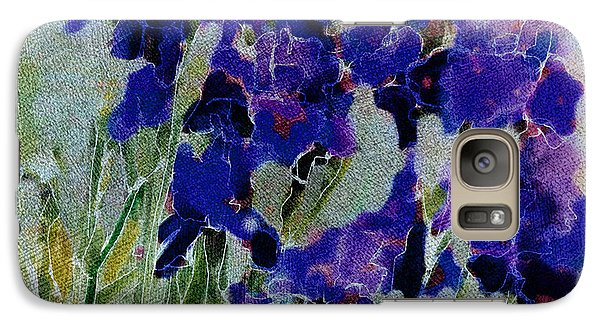 Galaxy Case featuring the photograph Meadow Iris by Linde Townsend