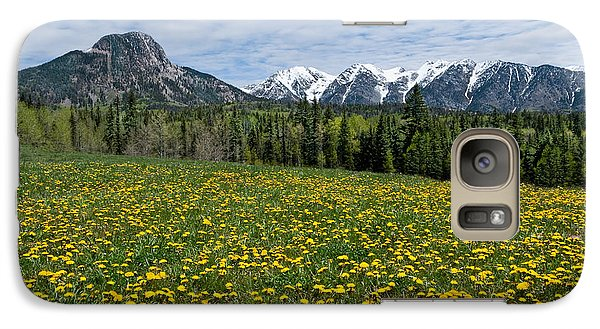 Galaxy Case featuring the photograph Meadow Of Dandelions In The San Juan Mountains by Jeff Goulden