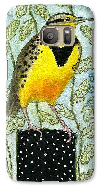 Meadowlark Black Dot Box Galaxy S7 Case