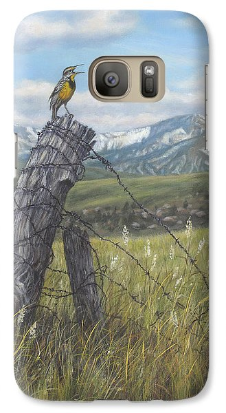 Meadowlark Serenade Galaxy S7 Case by Kim Lockman