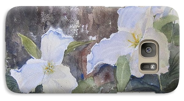 Galaxy Case featuring the painting Meaghan's Trillium by Sandra Strohschein